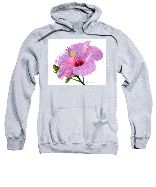 Pink Hibiscus Blossom With Blue Shadows Sweatshirt