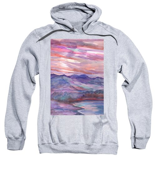 Pink Mountain Landscape Sweatshirt