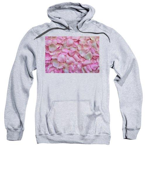 Pink Rose Petals Sweatshirt