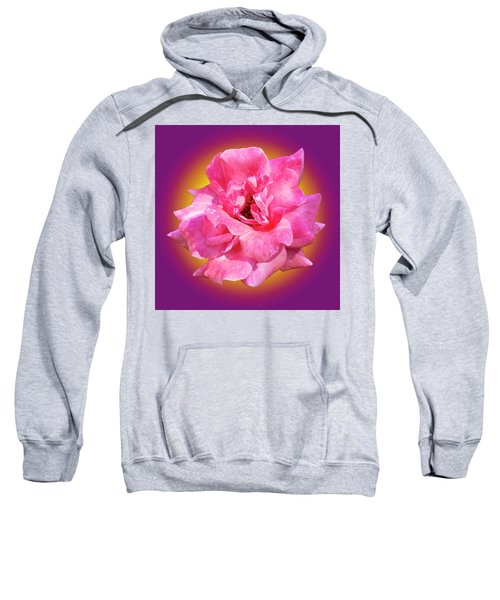 Pink Rose With Background Sweatshirt