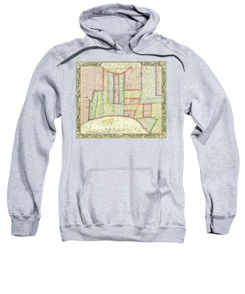 Plan Of Philadelphia, 1860 Sweatshirt