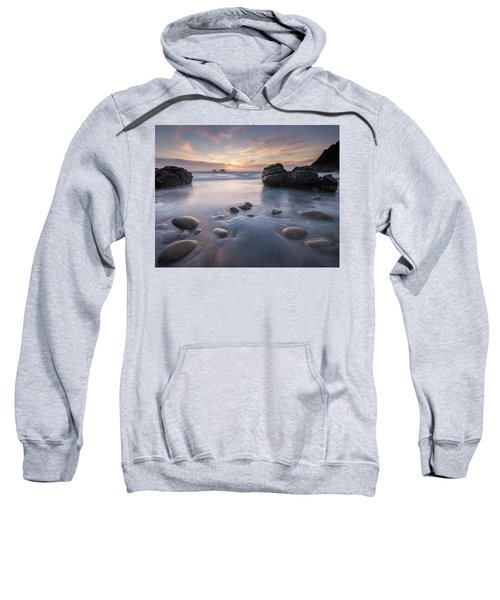 Porth Nanven At Sunset, Near St. Just, West Cornwall, Uk Sweatshirt