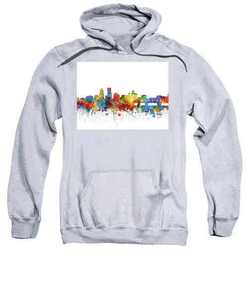 Portland City Skyline Watercolor Sweatshirt