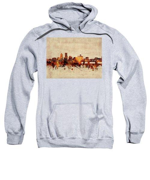 Portland Skyline Sepia Sweatshirt