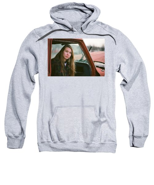 Portrait In A Truck Sweatshirt