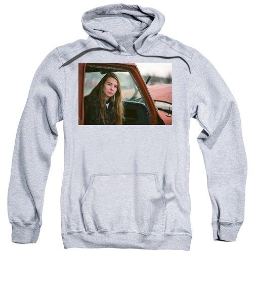 Portrait In A Truck Sweatshirt
