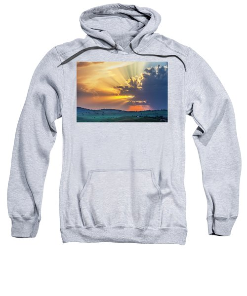 Sweatshirt featuring the photograph Powerful Sunbeams by Evgeni Dinev