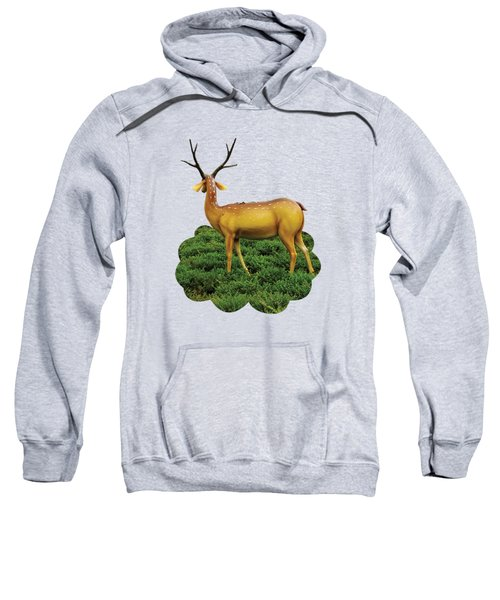 Pretty Deers Playing In The Forest. Sweatshirt