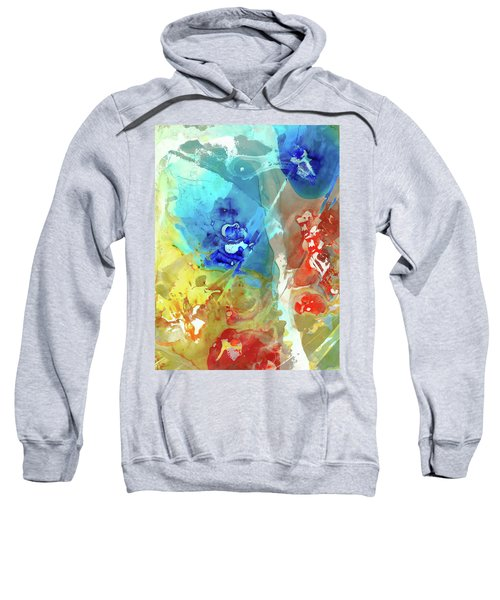 Primary Colors Abstract - Color Space - Sharon Cummings Sweatshirt