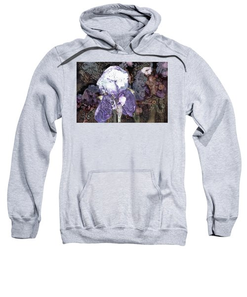 Purple Bearded Iris Sweatshirt