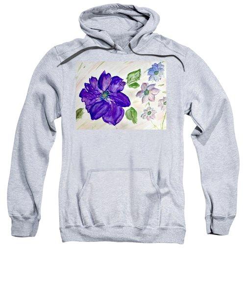 Purple Flower Sweatshirt