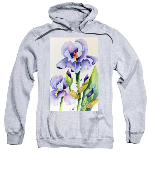 Purple Iris And Buds Sweatshirt