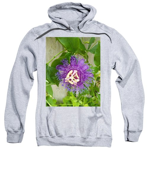 Purple Passionflower Sweatshirt