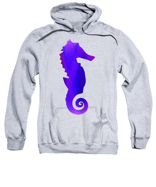 Purple Seahorse Fantasy  Sweatshirt
