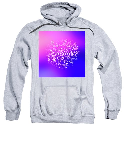 Purply Pink Gratitude Sweatshirt