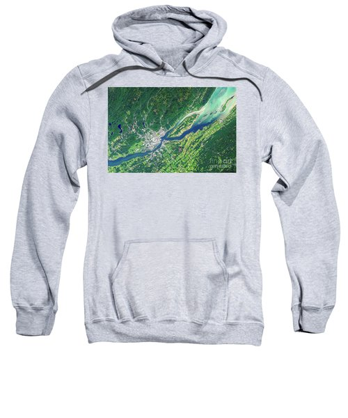 Quebec City From Space Sweatshirt