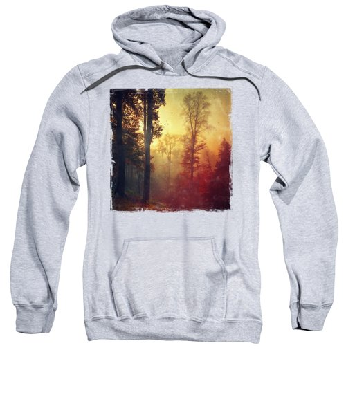 Quiet Morning - Misty Fall Forest Sweatshirt