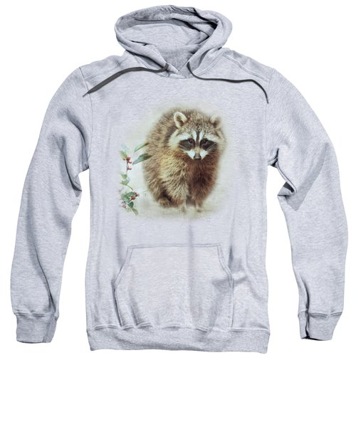 Raccoon In Winterberry Sweatshirt