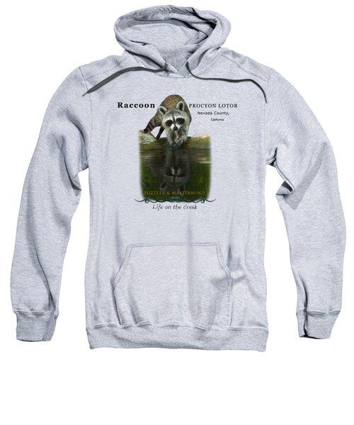 Raccoon Puzzler And Mastermind Sweatshirt