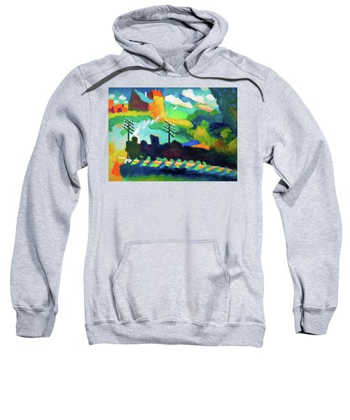 Railroad At Murnau - Digital Remastered Edition Sweatshirt