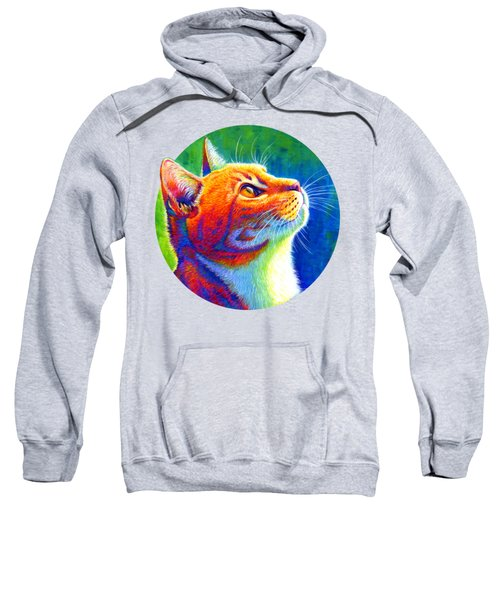 Rainbow Cat Portrait Sweatshirt