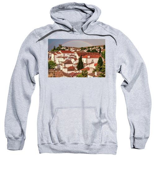Rainbow Over Castle Sweatshirt