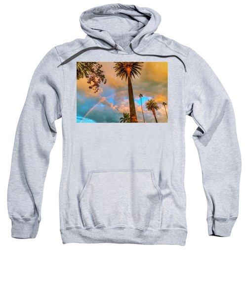 Rainbow Over The Palms Sweatshirt