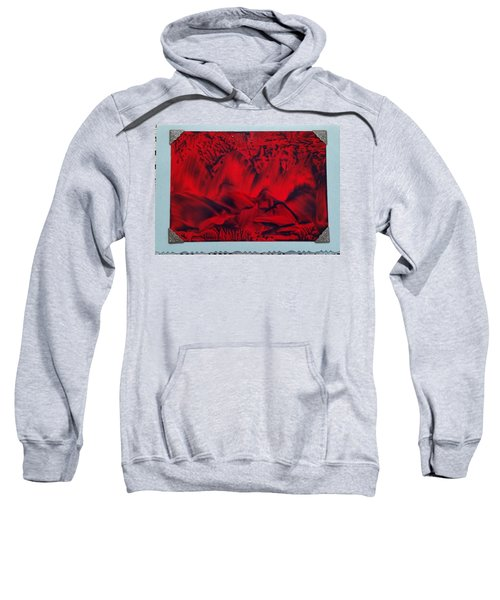 Red And Black Encaustic Abstract Sweatshirt