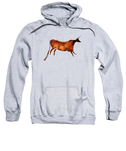 Red Cow In Beige Sweatshirt