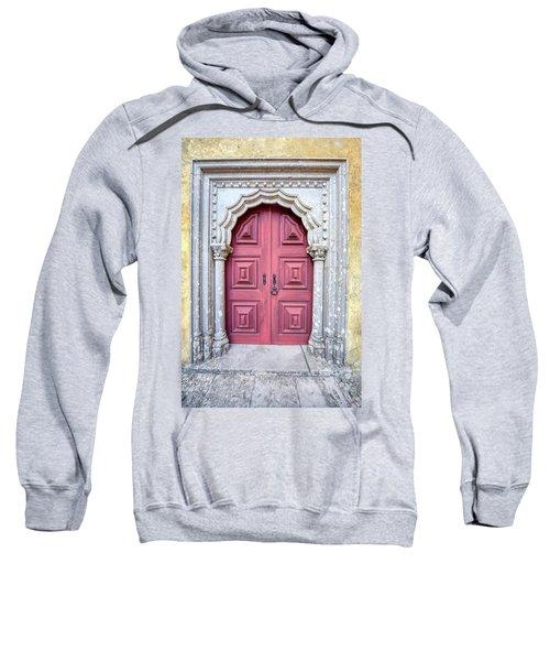 Red Medieval Door Sweatshirt