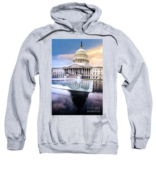 Sweatshirt featuring the photograph Reflecting Pool by Scott Kemper