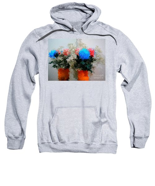 Reflection Of Flowers In The Mirror In Van Gogh Style Sweatshirt
