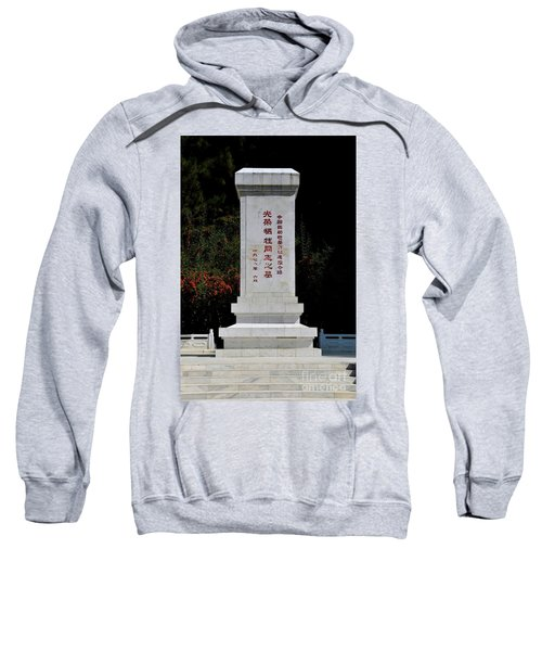 Remembrance Monument With Chinese Writing At China Cemetery Gilgit Pakistan Sweatshirt