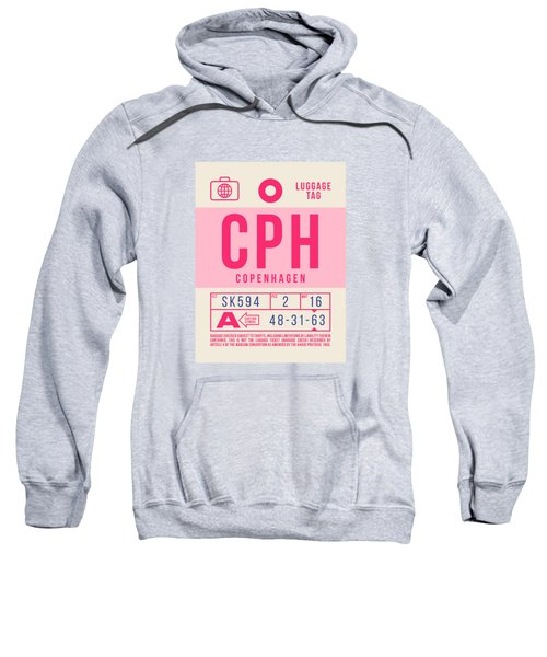 Retro Airline Luggage Tag 2.0 - Cph Copenhagen Denmark Sweatshirt