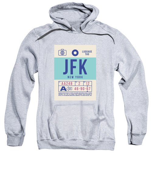 Retro Airline Luggage Tag 2.0 - Jfk New York United States Sweatshirt