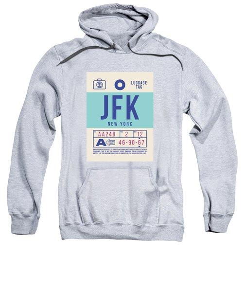 Retro Airline Luggage Tag 2.0 - Jfk New York United States Sweatshirt