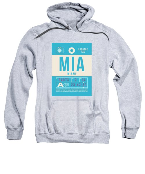 Retro Airline Luggage Tag 2.0 - Mia Miami International Airport United States Sweatshirt