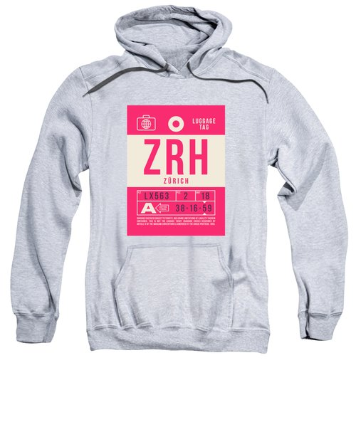 Retro Airline Luggage Tag 2.0 - Zrh Zurich International Airport Switzerland Sweatshirt