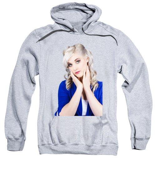 Retro Pin-up Woman With Beautiful Face Sweatshirt