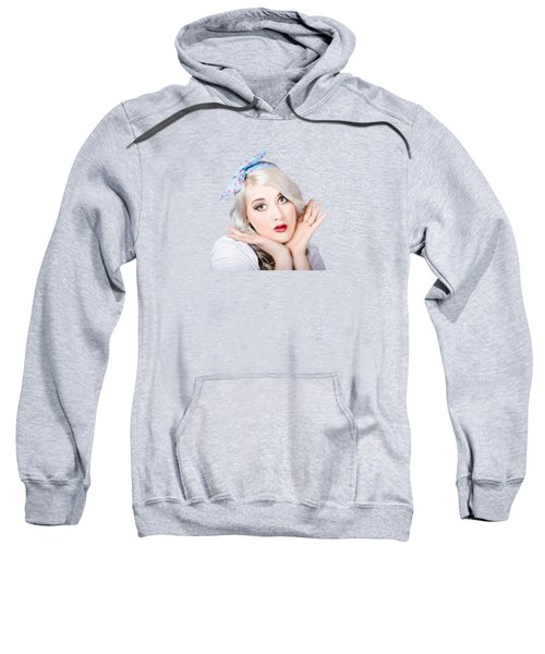 Retro Style Portrait Of A Blond Girl Sweatshirt
