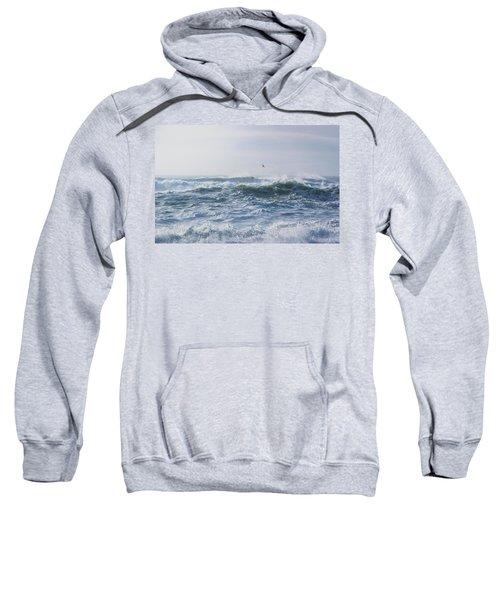 Reynisfjara Seagull Over Crashing Waves Sweatshirt