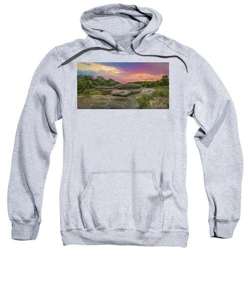 River Erosion At Sunset Sweatshirt