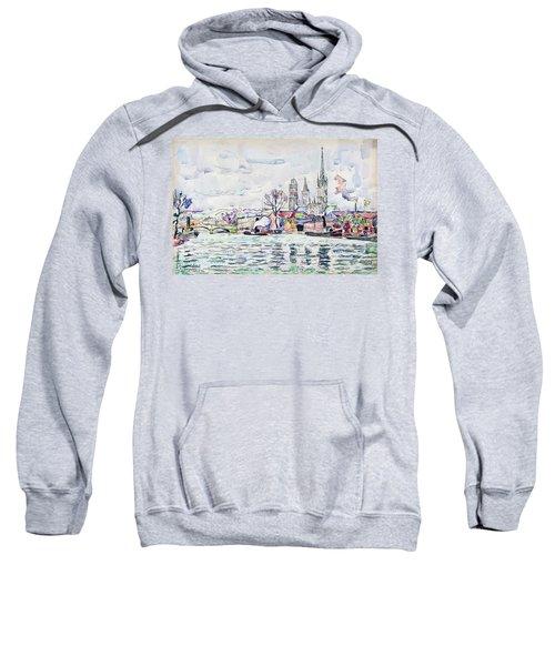 River Scene, Rouen - Digital Remastered Edition Sweatshirt