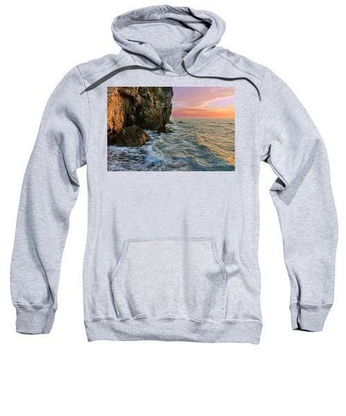 Rocky Cliffs And Waves During Sunset Sweatshirt