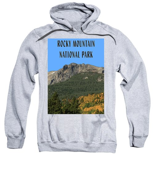 Rocky Mountain National Park Poster Sweatshirt