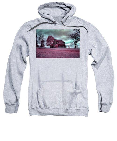 Rose Farm In Infrared Sweatshirt