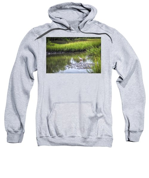 Roseate Spoonbill - Feeding Sweatshirt