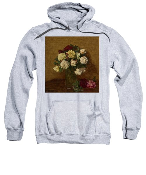 Roses In A Vase, 1878 Sweatshirt