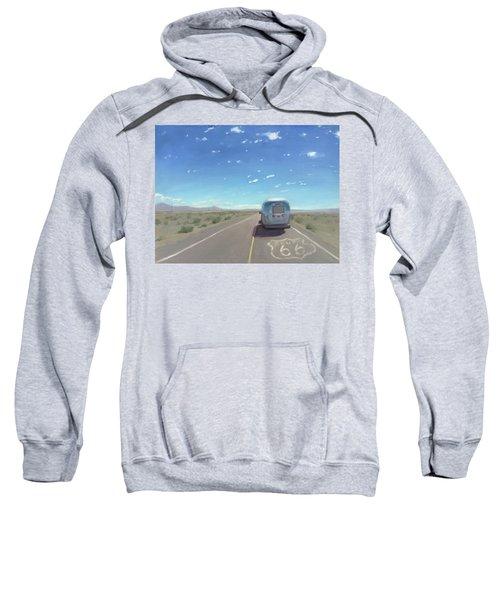 Route 66, Somewhere In California Sweatshirt
