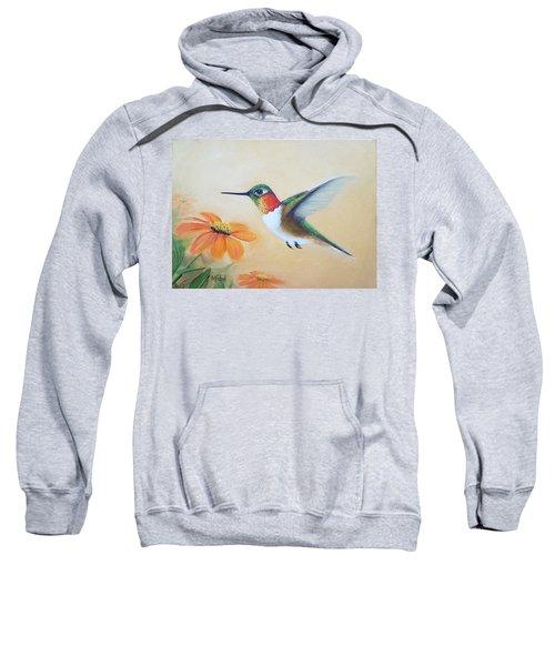 Rufous In Marigolds  Sweatshirt